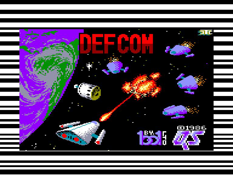screenshot of the Amstrad CPC game Defcom
