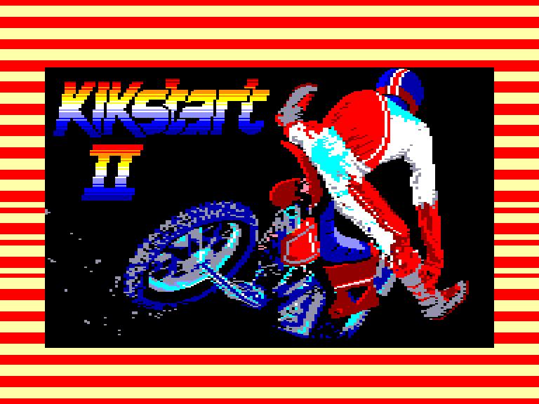 screenshot of the Amstrad CPC game Kikstart 2