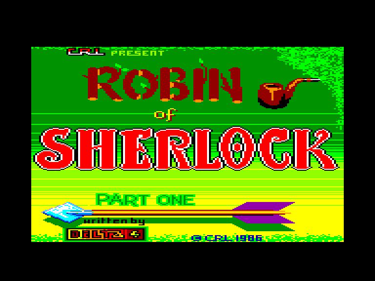 screenshot of the Amstrad CPC game Robin of sherlock