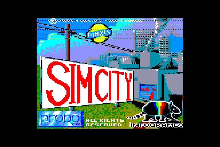 screenshot du jeu Amstrad CPC Sim City
